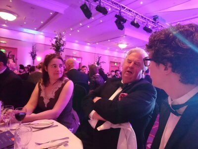 Photograph of Louise Brown and George Threlfall at the Bristol Law Society Awards Dinner