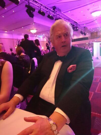 Photograph of George Threlfall at the Bristol Law Society Awards Dinner